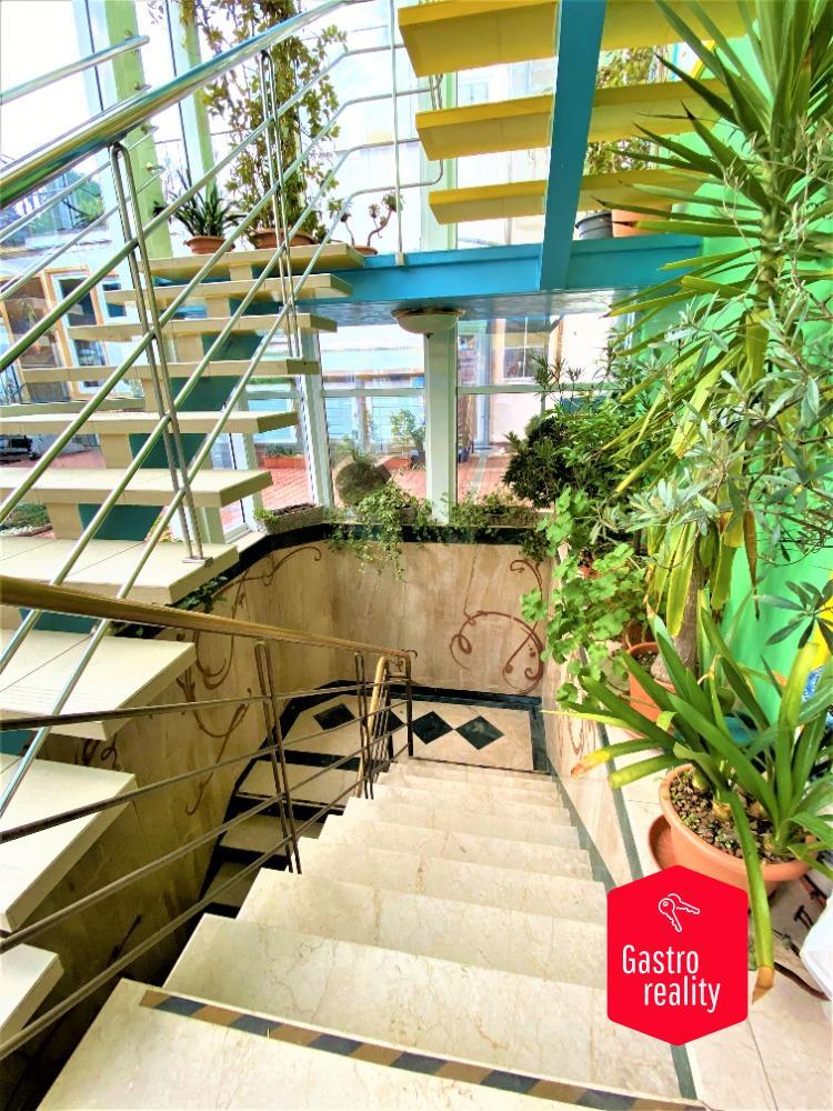 1.NP 25 (přízemí), mramorové schody vedoucí do suterénu
